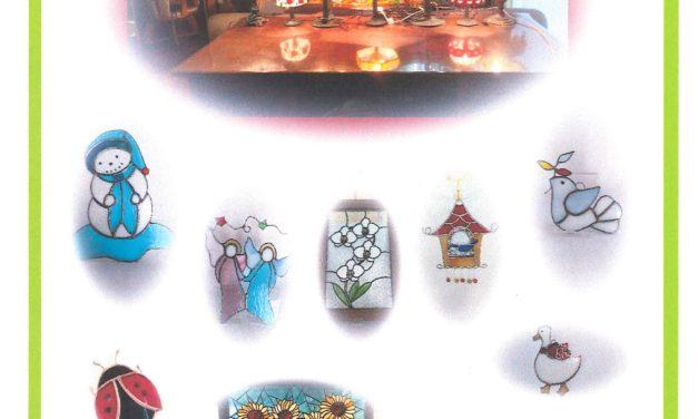 ガラス遊びの作品展